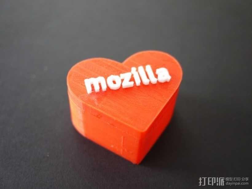 MozLove心形礼物盒 3D模型  图6