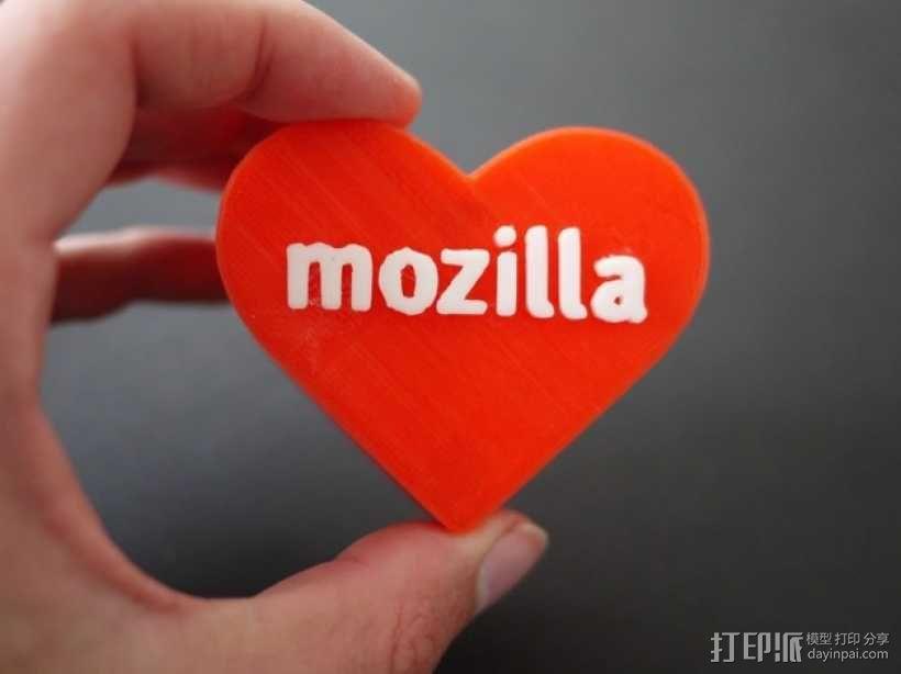 MozLove心形礼物盒 3D模型  图7