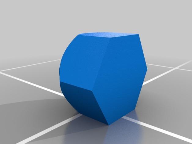 蜂巢形笔筒 3D模型  图2