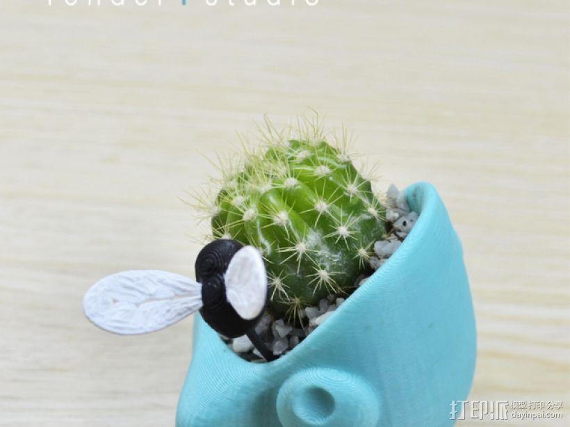 迷你可爱花盆 3D模型  图1
