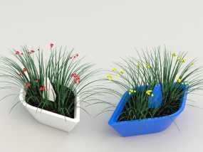迷你可爱花盆 3D模型