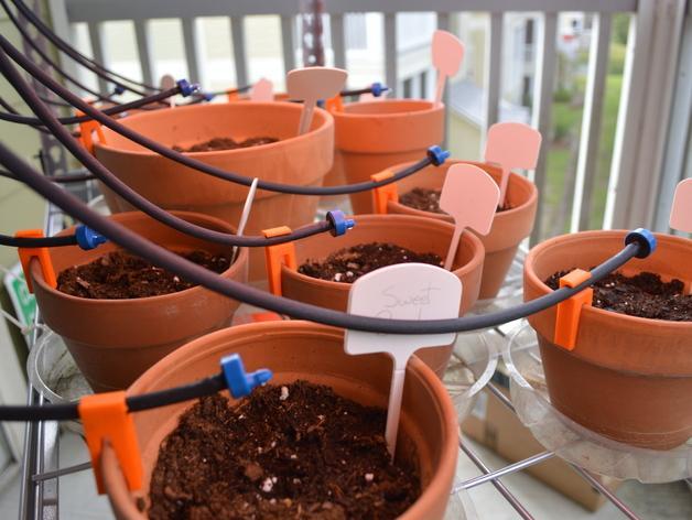 滴灌花盆夹 3D模型  图3
