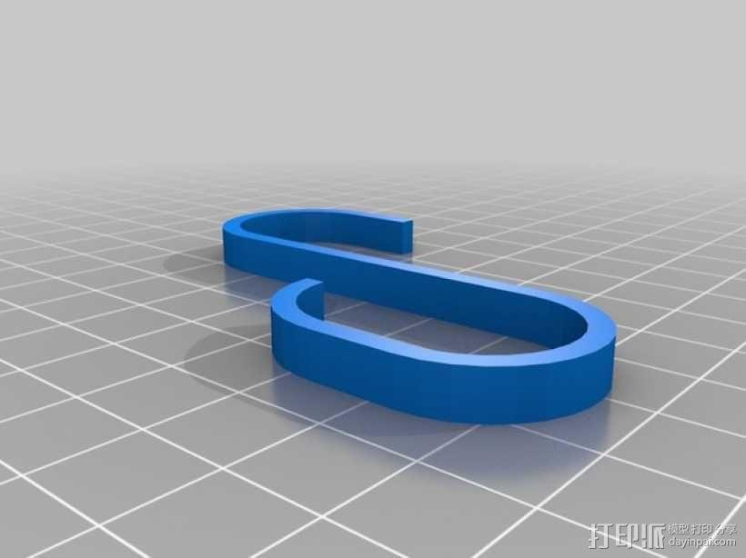 S形挂钩 3D模型  图3