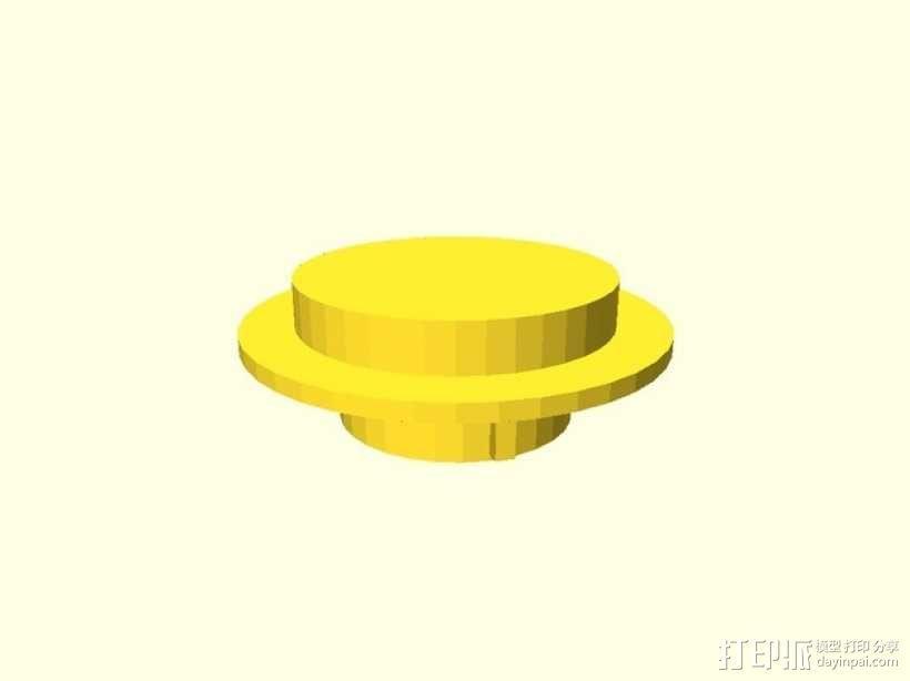 5加仑汽油罐罐盖 3D模型  图2
