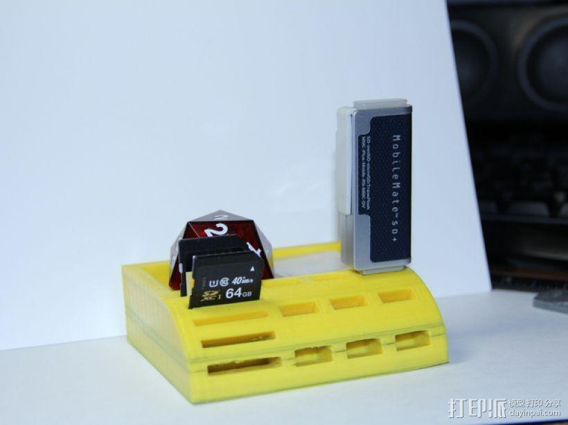 USB/SD卡架 3D模型  图1