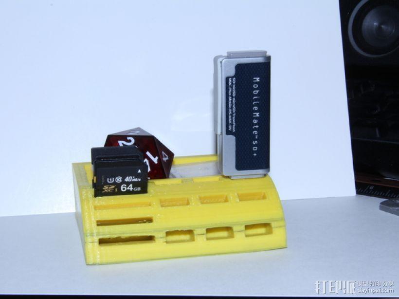 USB/SD卡架 3D模型  图5