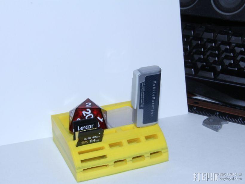 USB/SD卡架 3D模型  图4
