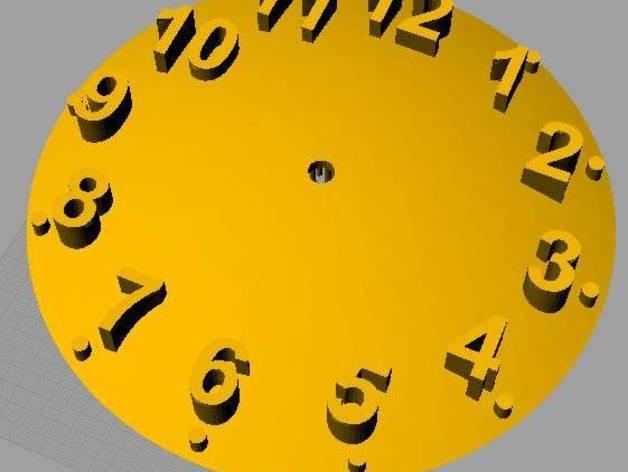 数字时钟底座 3D模型  图1