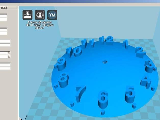 数字时钟底座 3D模型  图4