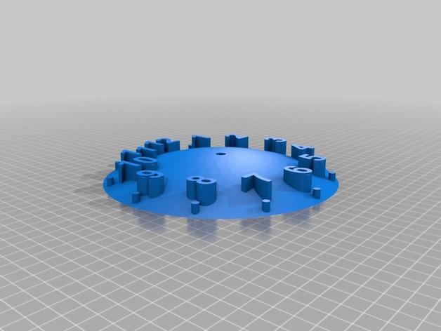 数字时钟底座 3D模型  图3