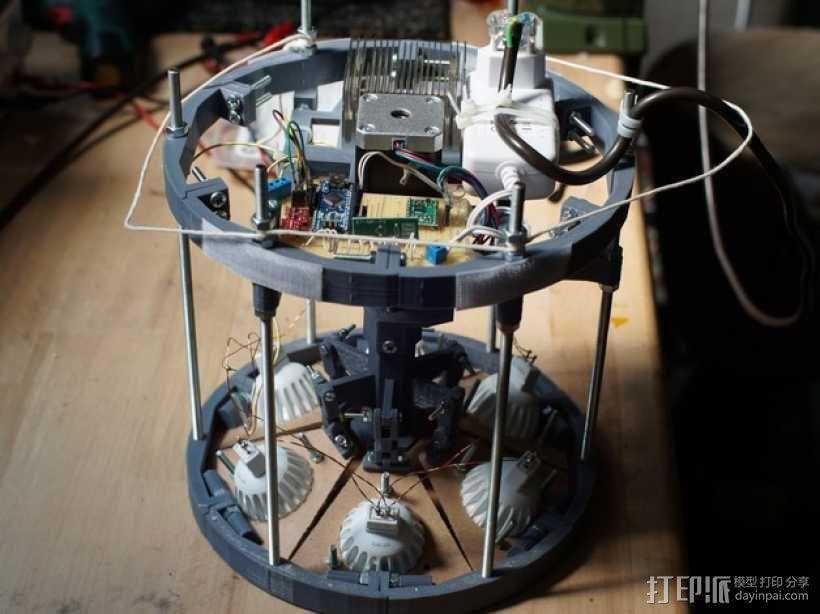 太阳能植物台灯 3D模型  图3