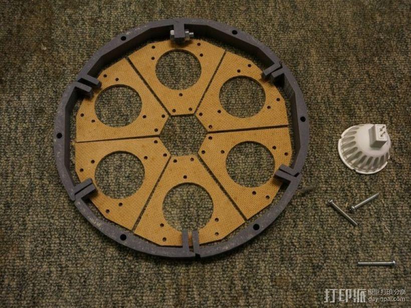 太阳能植物台灯 3D模型  图4