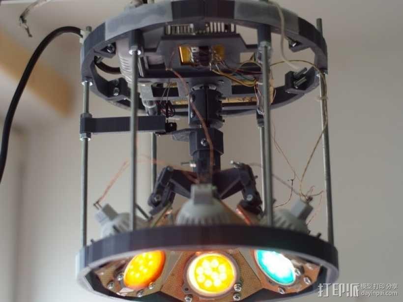 太阳能植物台灯 3D模型  图1