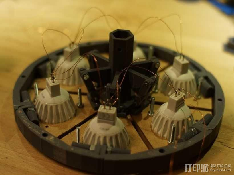 太阳能植物台灯 3D模型  图5