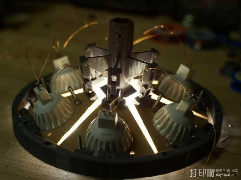 太阳能植物台灯 3D模型  图6