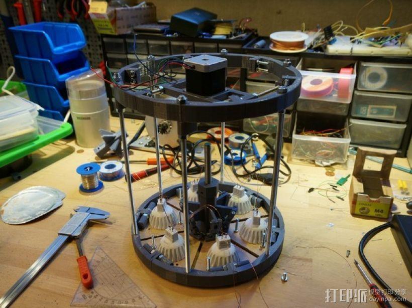 太阳能植物台灯 3D模型  图7