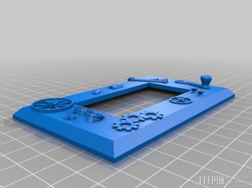 朋克风灯开关外壳 3D模型  图2