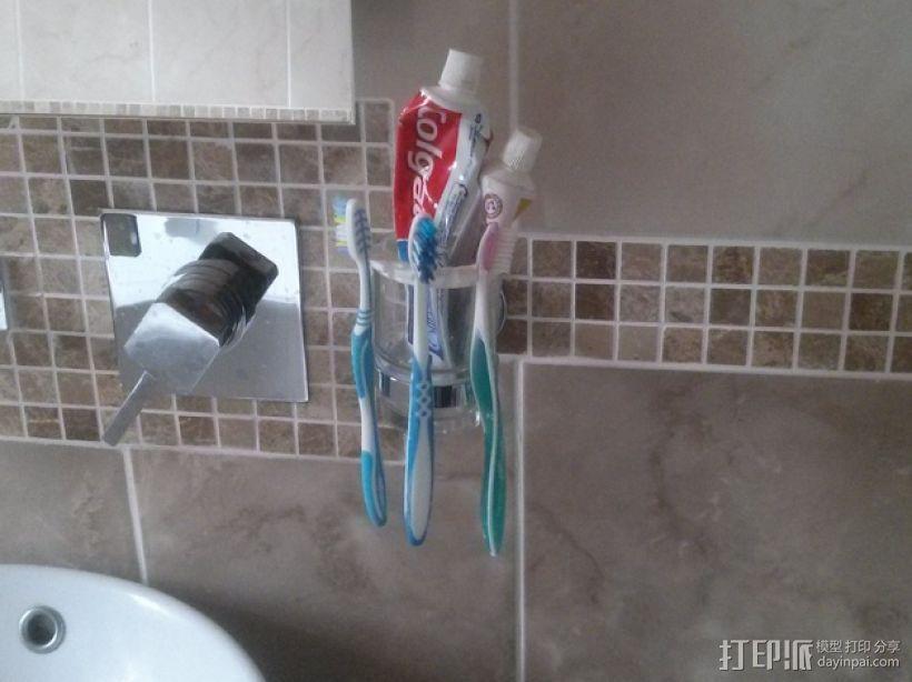 肥皂架/牙刷牙膏架 3D模型  图1