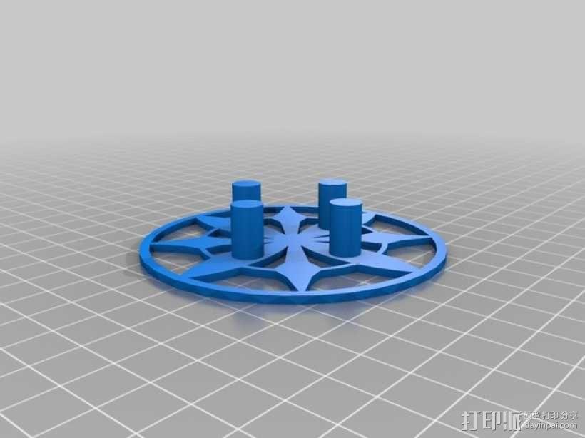 肥皂架/牙刷牙膏架 3D模型  图3
