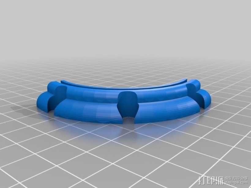 肥皂架/牙刷牙膏架 3D模型  图4