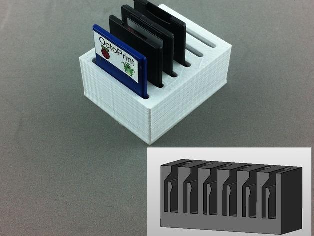 弹簧装置的SD卡卡槽 3D模型  图1