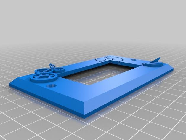 蒸汽朋克电灯开关盖No.2 3D模型  图1