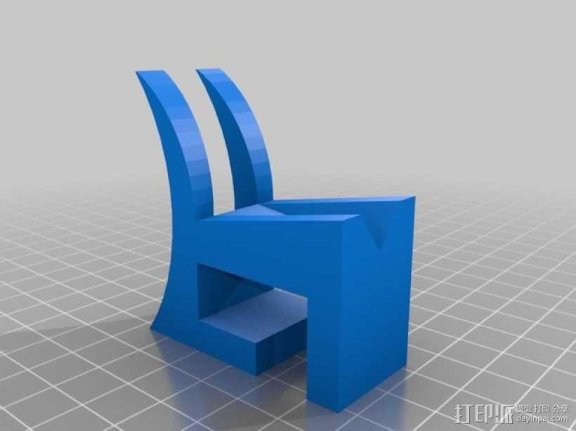 大象红酒杯托 3D模型  图2
