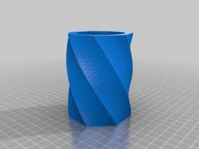 极具曲线美的塑料杯 3D模型