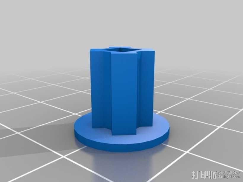 备用索环 3D模型  图2