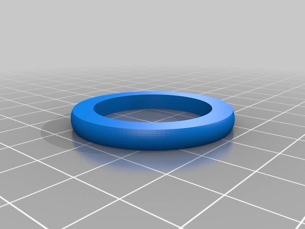压力喷雾机垫圈 3D模型  图2