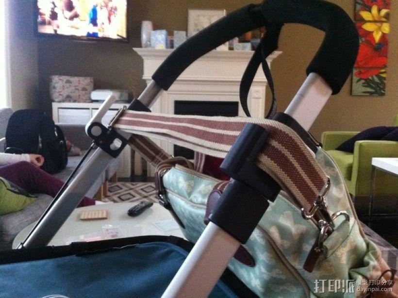 婴儿车包袋夹 3D模型  图2