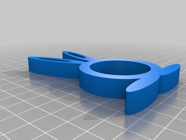 小兔餐巾圈 3D模型  图5