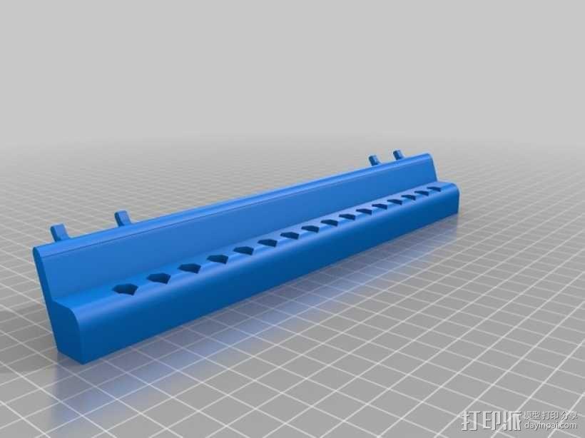 钉板电钻/电动螺丝刀零部件陈列架 3D模型  图1