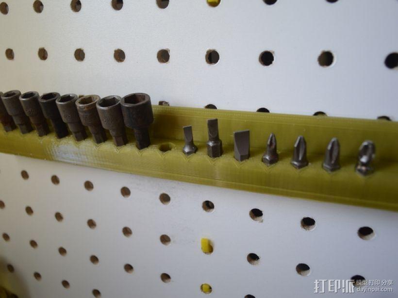 钉板电钻/电动螺丝刀零部件陈列架 3D模型  图2