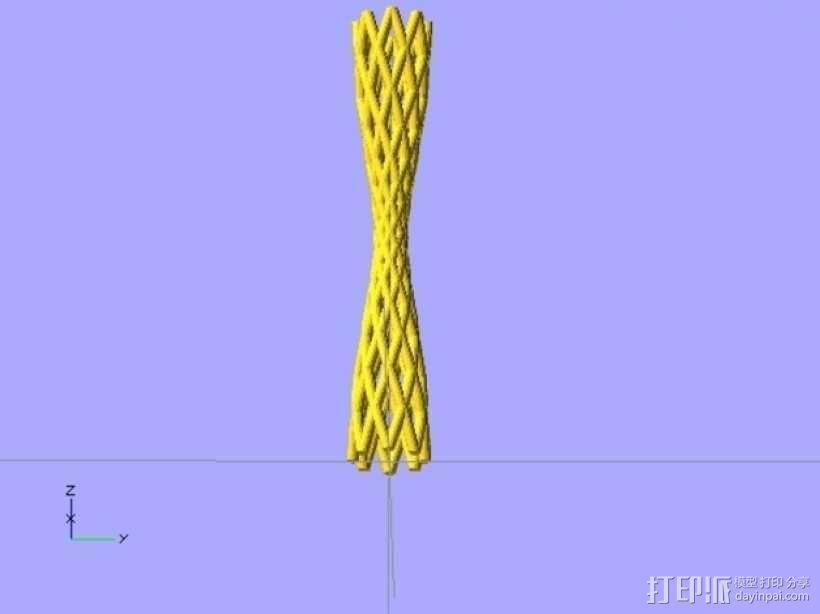弯曲的烟管 3D模型  图3