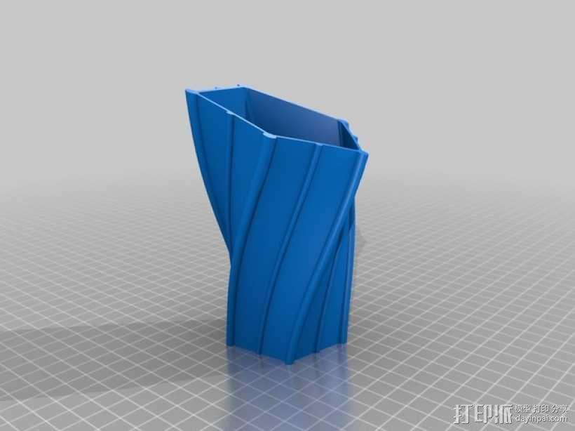 扭曲的花瓶 3D模型  图2
