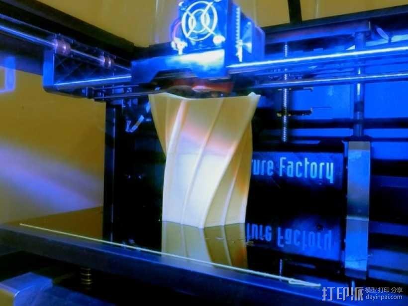 扭曲的花瓶 3D模型  图3