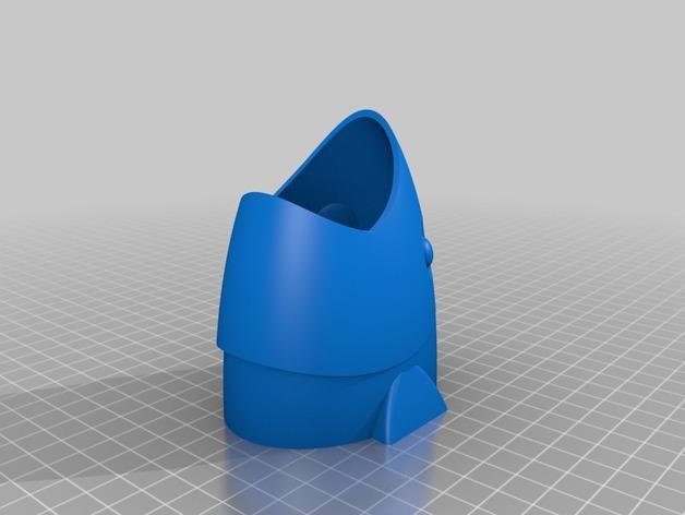 鱼形笔筒 3D模型  图2