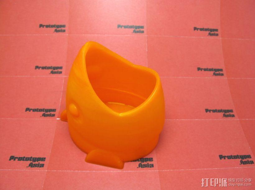 鱼形笔筒 3D模型  图1