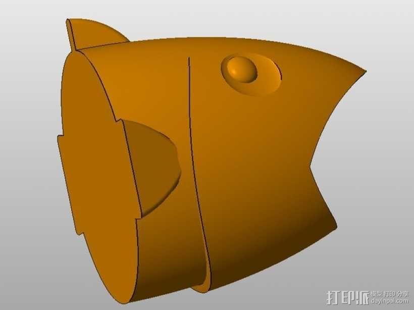 鱼形笔筒 3D模型  图4