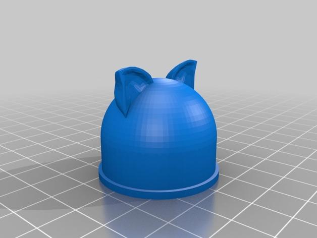 塑料瓶螺帽 3D模型  图2