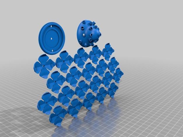 绣球LED灯 3D模型  图6