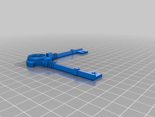 朋克风拐角边框 3D模型  图3