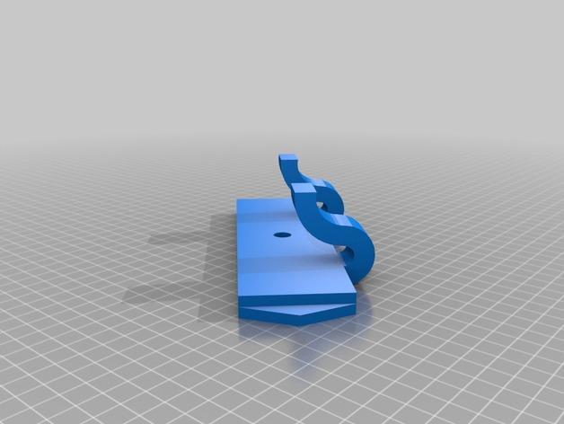 可拆卸墙壁挂钩 3D模型  图2