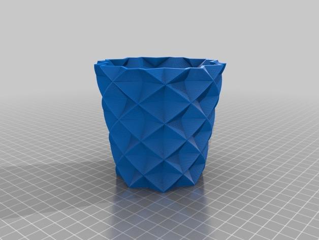 方杯 方瓶 3D模型  图1