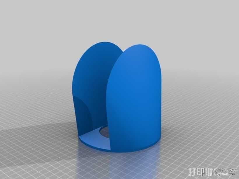 定制纸巾架 3D模型  图3
