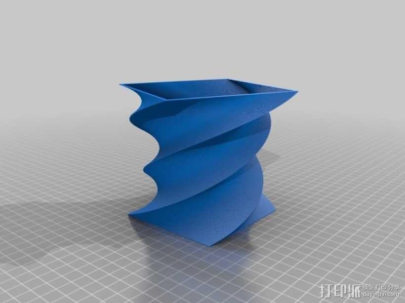 方瓶 方杯 3D模型  图1