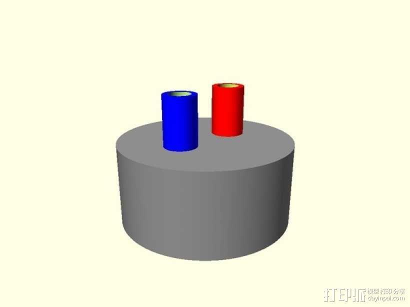 有吸管的瓶盖 3D模型  图1