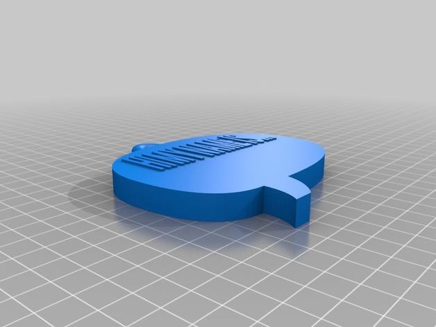 名牌吊坠 3D模型  图2