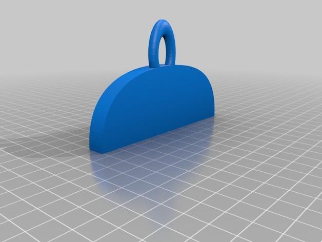 名牌吊坠 3D模型  图3